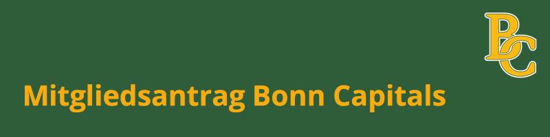 Mitgliedsantrag Bonn Capitals